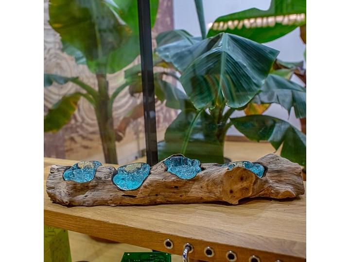 Drewniany świecznik Lilin, My love Bali Drewno Kategoria Świeczniki i świece Szkło Kolor Brązowy