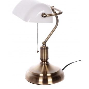Lampa bankierska Lumina Deco LDT-305-WT Banker Classic
