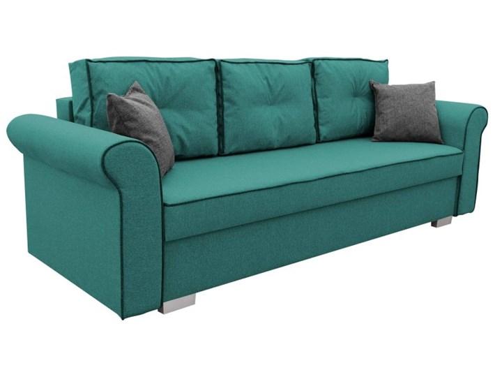 Sofa z Funkcją Spania Pele Turkusowy Stała konstrukcja Powierzchnia spania 130x190 cm Głębokość 85 cm Pomieszczenie Salon