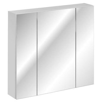 Biała szafka łazienkowa z lustrem - Mantis 4X 80 cm
