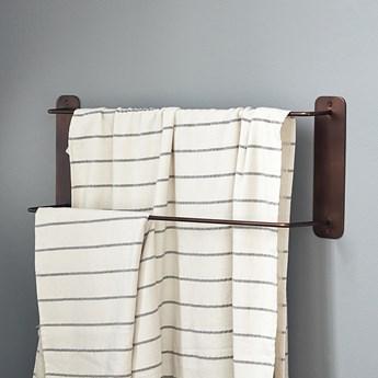 Wieszak na ręczniki Pati 60x24 cm - brązowy mosiężny