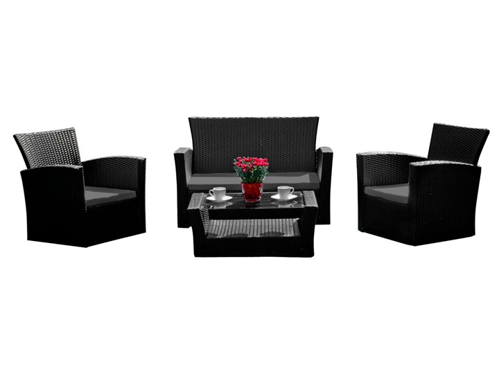 Meble ogrodowe z technorattanu UNICO Zestawy wypoczynkowe Zawartość zestawu Fotele Zawartość zestawu Sofa