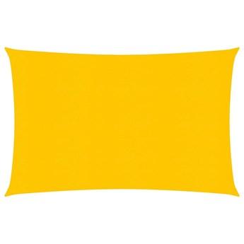 vidaXL Żagiel przeciwsłoneczny, 160 g/m², żółty, 3x4 m, HDPE