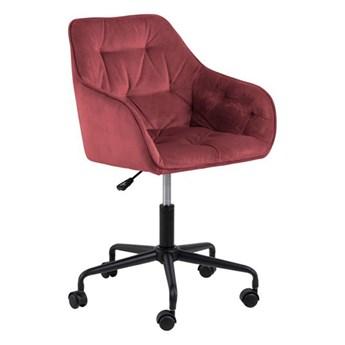 SELSEY Fotel biurowy tapicerowany Dianerco koralowy