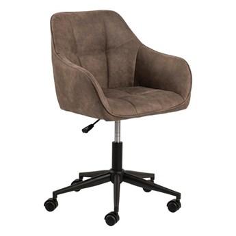 SELSEY Fotel biurowy tapicerowany Astia jasnobrązowy