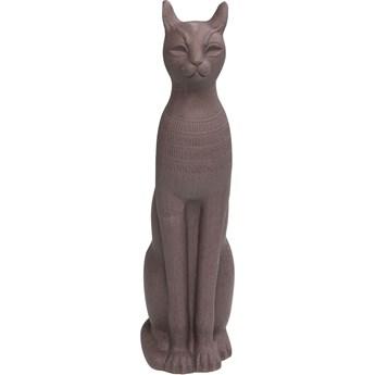 Dekoracje stojące Cat 30x77 cm brązowa