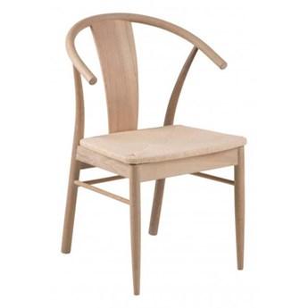 Krzesło Janik - dąb bielony, krzesło do jadalni, drewniane, retro, modern, scandi