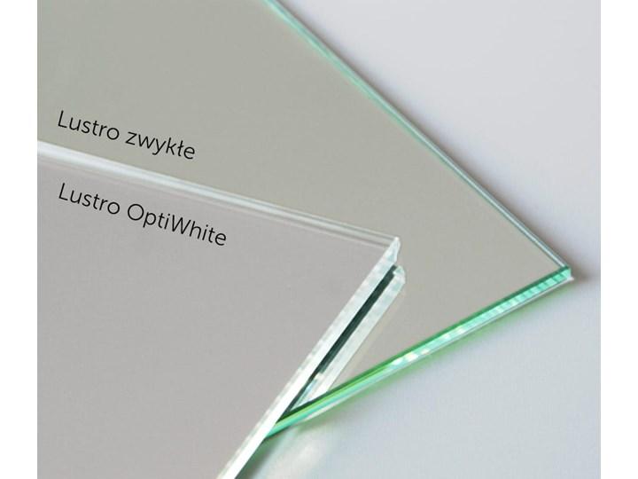 Lustro Credo Linea w ramie z mosiądzu Lustro z ramą Styl Glamour