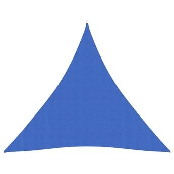 vidaXL Żagiel przeciwsłoneczny, 160 g/m², niebieski, 4x4x4 m, HDPE