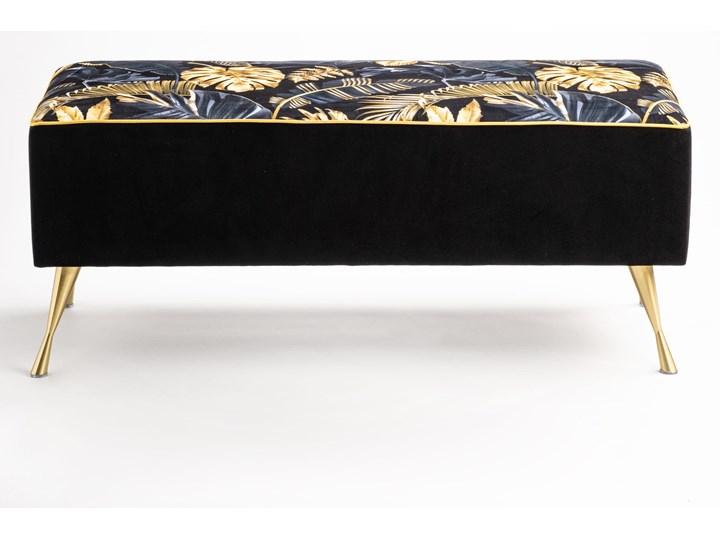 Ławka tapicerowana do przedpokoju Retro Fancy Gold Styl Vintage Styl Glamour