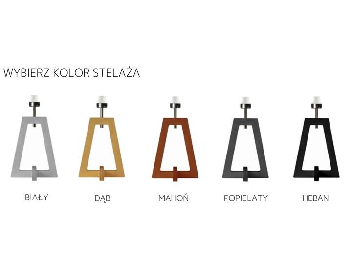 LAMPA NA STOLIK TERIO WALEC GOLDEN Wysokość 47 cm Drewno Lampa z abażurem Kategoria Lampy stołowe