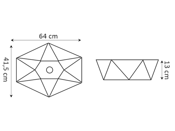 VELDMAN CERAMICZNA UMYWALKA NABLATOWA SONET ROZMIARY Meblowe Szerokość 57 cm Ceramika Asymetryczne Kategoria Umywalki Nablatowe Kolor Biały