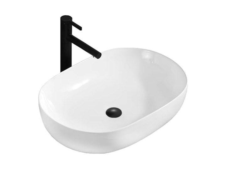 VELDMAN UMYWALKA ANNA SLIM CIENKIE KRAWĘDZIE Meblowe Owalne Nablatowe Ceramika Szerokość 48 cm Kategoria Umywalki