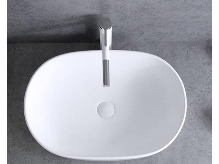 VELDMAN UMYWALKA ANNA SLIM CIENKIE KRAWĘDZIE Ceramika Nablatowe Szerokość 48 cm Meblowe Kategoria Umywalki Owalne Kolor Biały