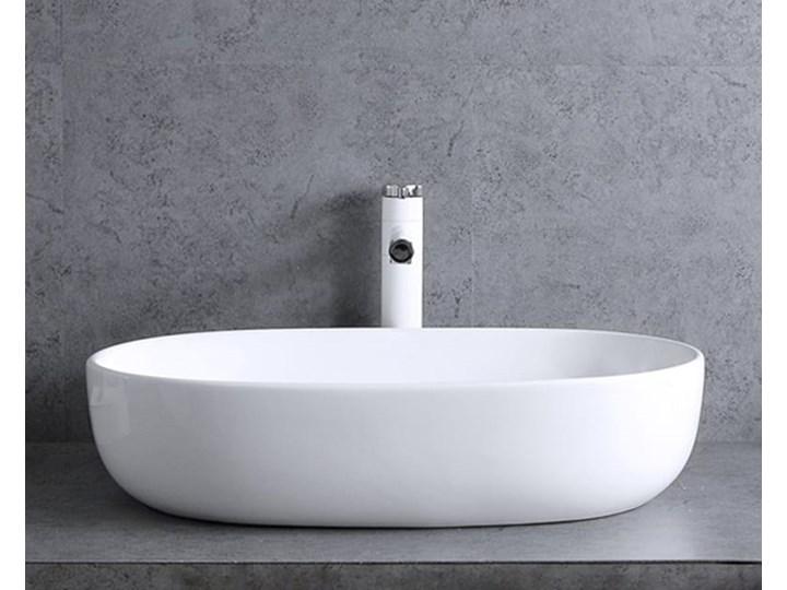 VELDMAN UMYWALKA ANNA SLIM CIENKIE KRAWĘDZIE Owalne Meblowe Szerokość 48 cm Nablatowe Ceramika Kategoria Umywalki