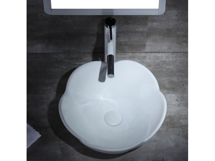 VELDMAN UMYWALKA CERAMICZNA ROSE Nablatowe Ceramika Szerokość 40 cm Meblowe Asymetryczne Kategoria Umywalki