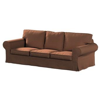 Pokrowiec na sofę Ektorp 3-osobową, nierozkładaną, brunatny szenil, 218 x 88 x 73 cm, Living