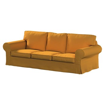 Pokrowiec na sofę Ektorp 3-osobową, nierozkładaną, miodowy szenil, 218 x 88 x 73 cm, Living