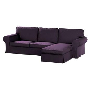 Pokrowiec na sofę Ektorp 2-osobową i leżankę, fioletowy szenil, 252 x 163 x 88 cm, Living