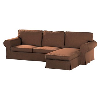 Pokrowiec na sofę Ektorp 2-osobową i leżankę, brunatny szenil, 252 x 163 x 88 cm, Living