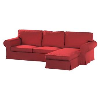 Pokrowiec na sofę Ektorp 2-osobową i leżankę, czerwony, 252 x 163 x 88 cm, Living