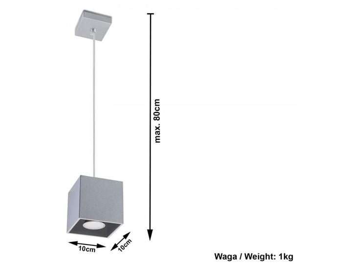 Lampa Wisząca QUAD 1 Szary Lampa z kloszem Funkcje Brak dodatkowych funkcji Kategoria Lampy wiszące