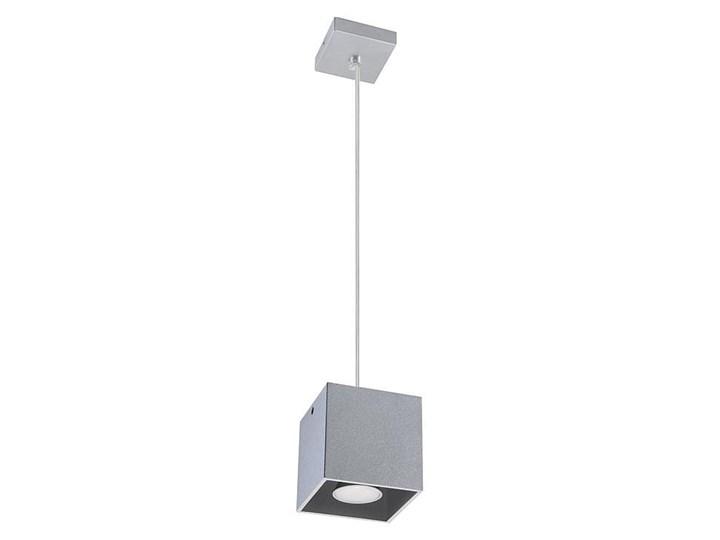 Lampa Wisząca QUAD 1 Szary Lampa z kloszem Funkcje Brak dodatkowych funkcji