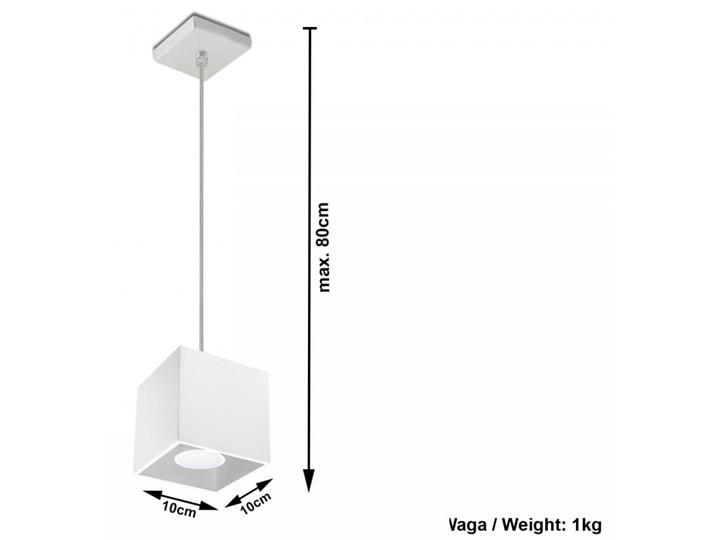 Lampa Wisząca QUAD 1 Biały Funkcje Brak dodatkowych funkcji Lampa z kloszem Kategoria Lampy wiszące