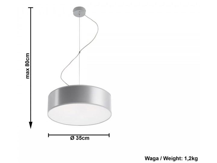 Lampa Wisząca ARENA 35 Szara Lampa z kloszem Funkcje Brak dodatkowych funkcji