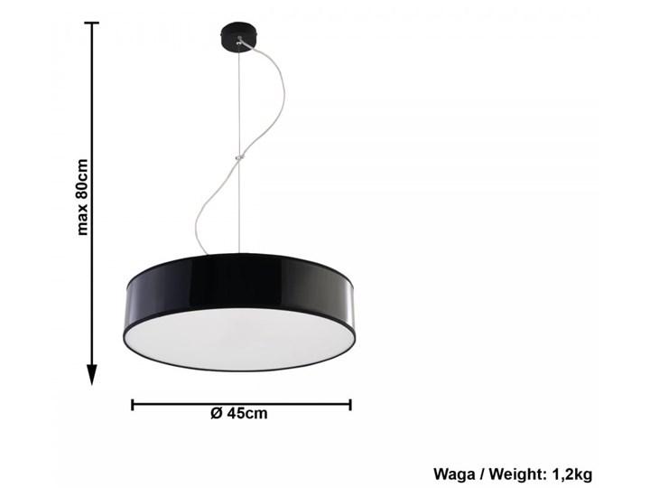 Lampa Wisząca ARENA 45 Czarna Lampa z kloszem Funkcje Brak dodatkowych funkcji