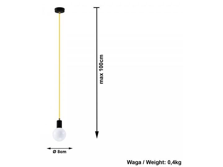 Lampa Wisząca EDISON Żółta Tkanina Metal Stal Kategoria Lampy wiszące