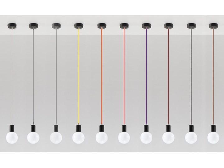 Lampa Wisząca EDISON Żółta Stal Tkanina Metal Kolor Żółty Kategoria Lampy wiszące