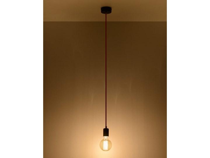 Lampa Wisząca EDISON Czarno-Biała Metal Tkanina Kolor Czarny Stal Kategoria Lampy wiszące