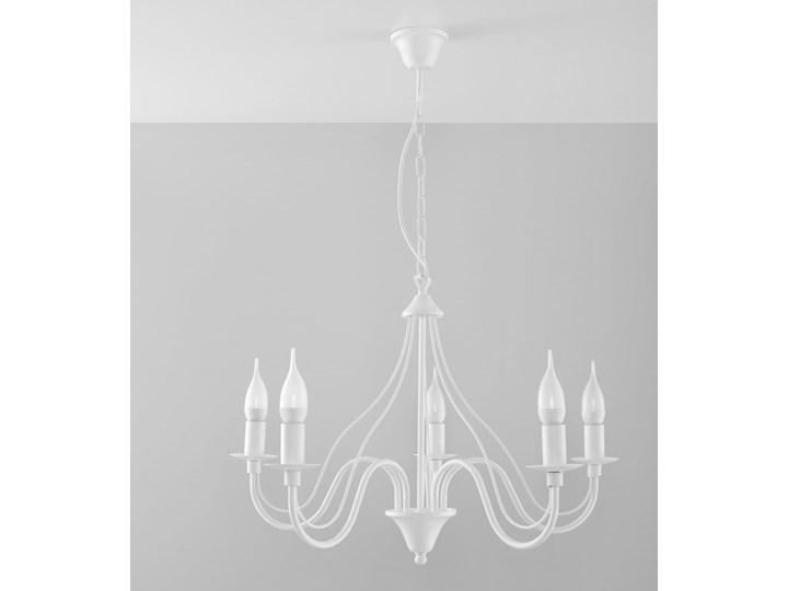 Żyrandol MINERWA 5 Biały Metal Stal Kategoria Lampy wiszące