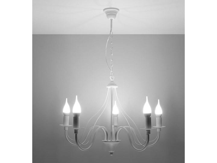 Żyrandol MINERWA 5 Biały Stal Metal Kategoria Lampy wiszące