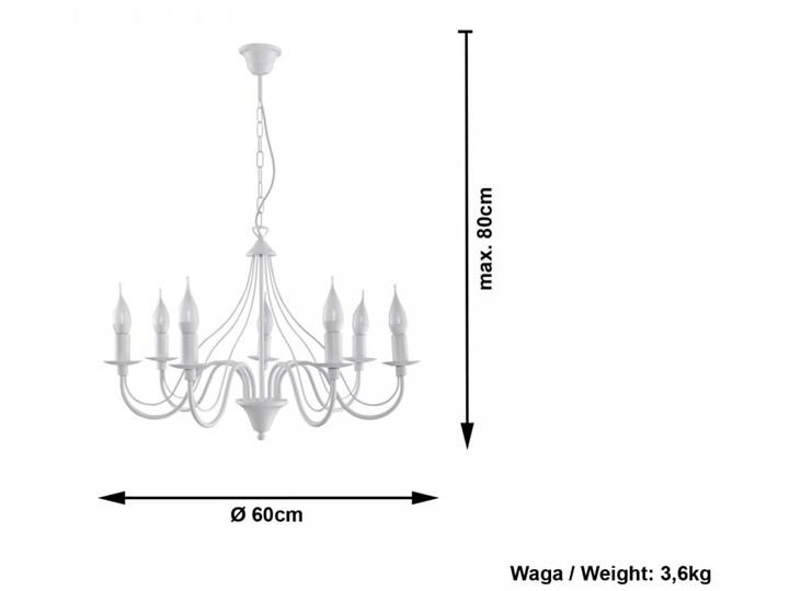 Żyrandol MINERWA 7 Biały Stal Metal Kategoria Lampy wiszące