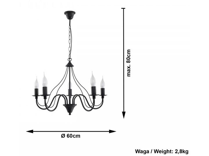 Żyrandol MINERWA 5 Czarny Metal Stal Kategoria Lampy wiszące