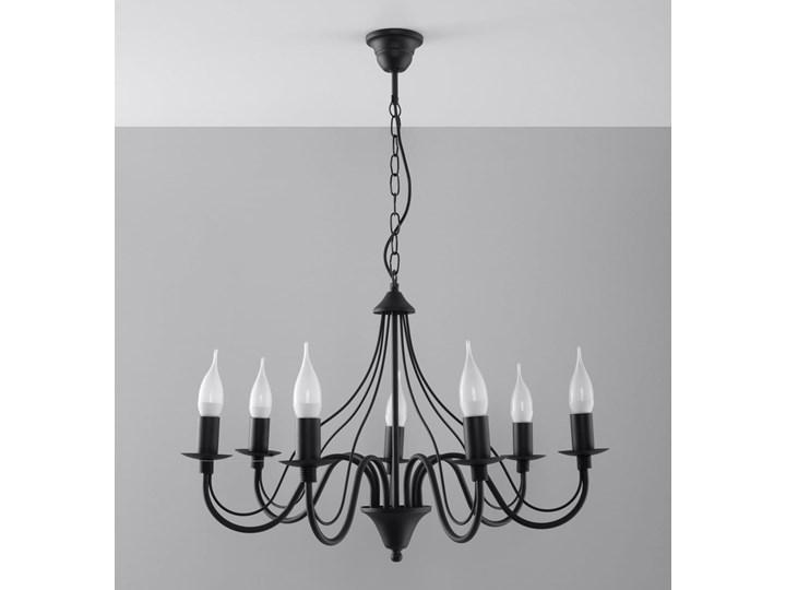 Żyrandol MINERWA 7 Czarny Stal Metal Kategoria Lampy wiszące