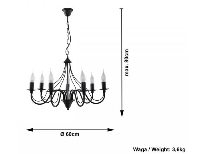 Żyrandol MINERWA 7 Czarny Metal Stal Kategoria Lampy wiszące