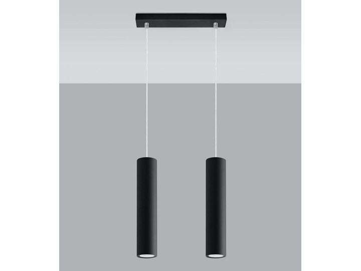 Lampa Wisząca LAGOS 2 Czarny Lampa z kloszem Metal Stal Kategoria Lampy wiszące