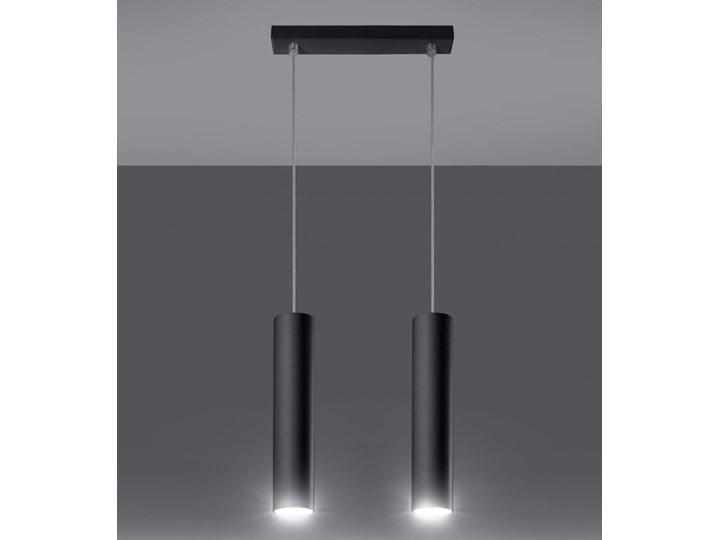 Lampa Wisząca LAGOS 2 Czarny Metal Lampa z kloszem Stal Kategoria Lampy wiszące