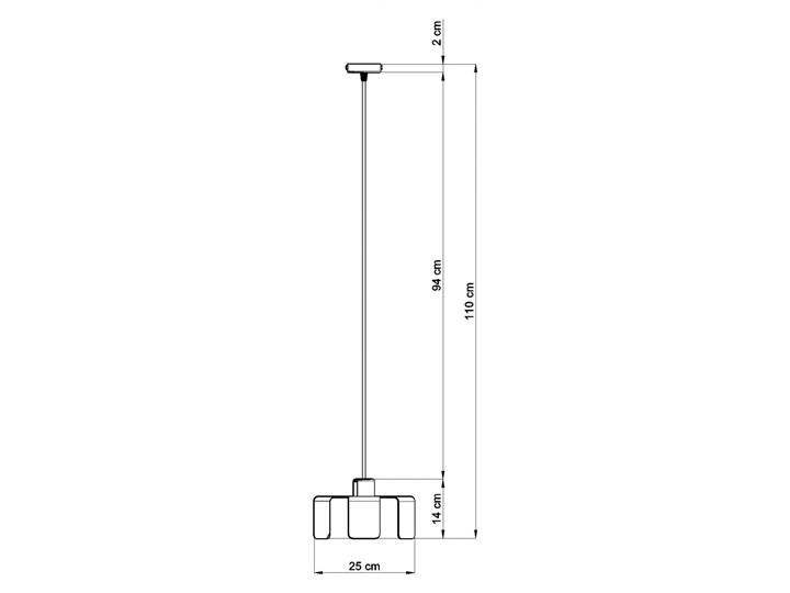 Lampa wisząca TULIP biały Metal Lampa z kloszem Stal Kategoria Lampy wiszące