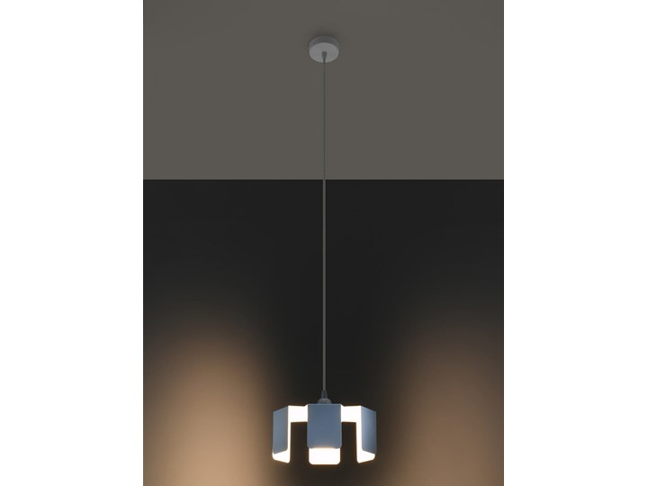 Lampa wisząca TULIP biały Metal Stal Lampa z kloszem Kategoria Lampy wiszące