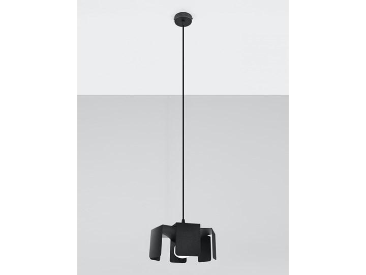 Lampa wisząca TULIP czarny Metal Lampa z kloszem Stal Kategoria Lampy wiszące