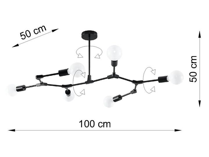 Żyrandol PLATO 6 Stal Metal Kategoria Lampy wiszące