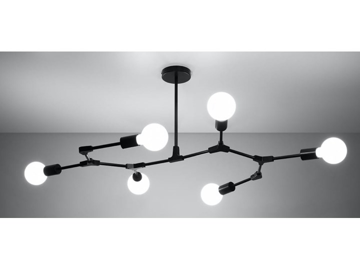 Żyrandol PLATO 6 Kategoria Lampy wiszące Metal Stal Funkcje Brak dodatkowych funkcji