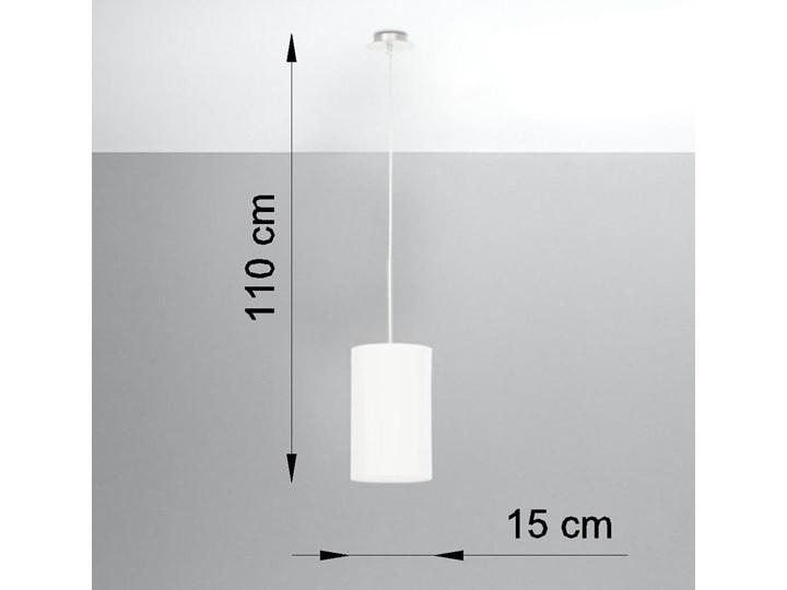 Żyrandol OTTO 15 biały Metal Stal Tkanina Lampa z kloszem Szkło Kategoria Lampy wiszące