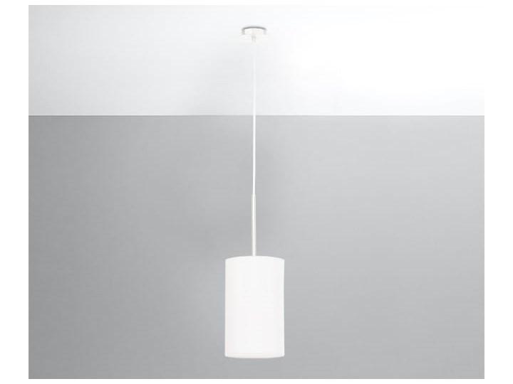 Żyrandol OTTO 15 biały Tkanina Szkło Stal Lampa z kloszem Metal Kategoria Lampy wiszące