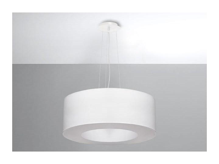 Żyrandol SATURNO 50 biały Funkcje Brak dodatkowych funkcji Tkanina Lampa z kloszem Stal Metal Kategoria Lampy wiszące