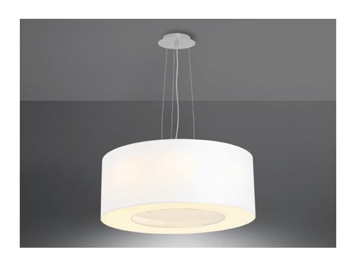Żyrandol SATURNO 50 biały Metal Tkanina Lampa z kloszem Stal Funkcje Brak dodatkowych funkcji